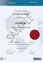 Printed Global English certificate