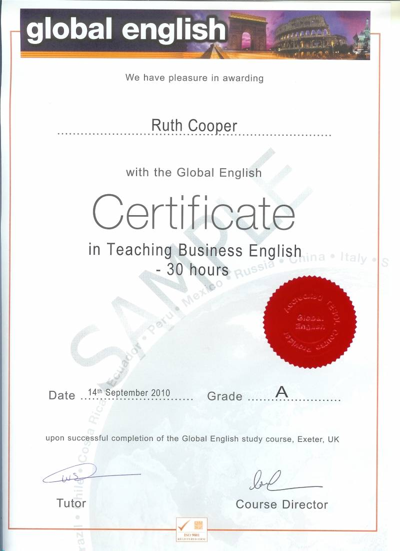 english teaching certification: