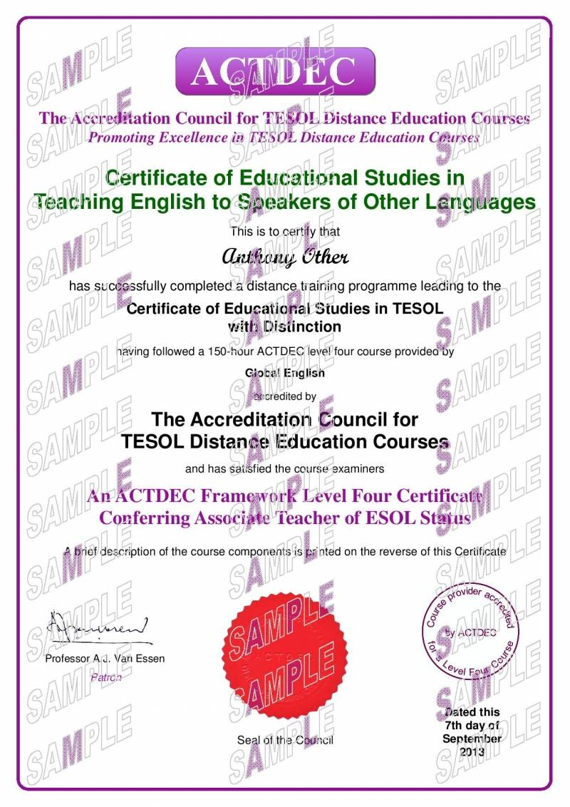 150 hour level 4 tesol global english actdec level 4 certificate of educational studies in tesol 1betcityfo Images