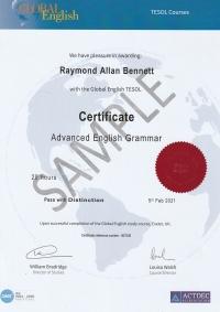 Certificate in Advanced English Grammar