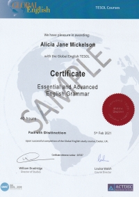Certificate in Essential and Advanced English Grammar