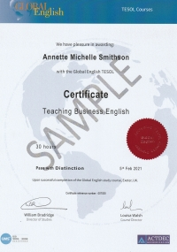 Certificate Teaching Business English