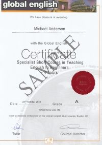 Spotlight Short Course Certificate Teaching English to Beginners