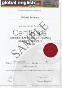 Spotlight Short Course Certificate Teaching English to Beginners