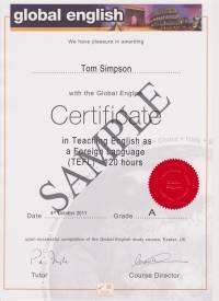 120 hour Global English TEFL Certificate