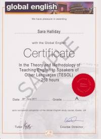 250 hour Global English Certificate in TESOL