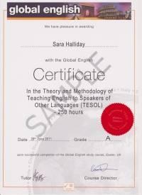 250 hour Global English Certificate in TESOL