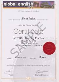 Global English Teaching Practice Certificate