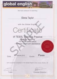 Global English Teaching Practice Certificate