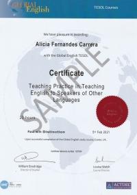 Certificate Teaching Practice in TESOL