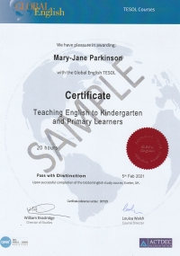 Teaching English to Kindergarten and Primary Learners - 20 hours