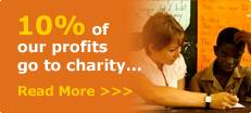 10% of our profits go to charity
